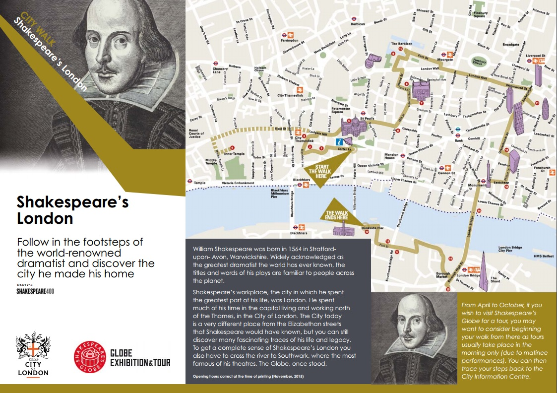 Shakespeare London Walking Route