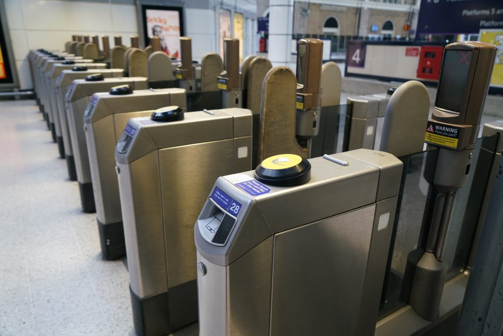 Automatic Ticket Gate in Victoria Underground Station