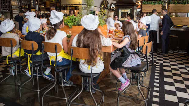 Children at a culinary workshop