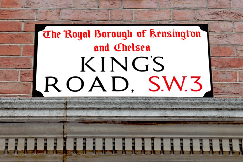 Chelsea, Kings Road, SW3 street sign
