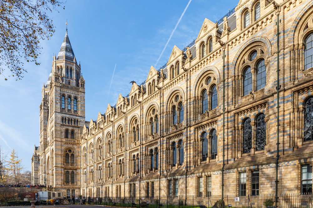 The Natural History Museum in Kensington, London