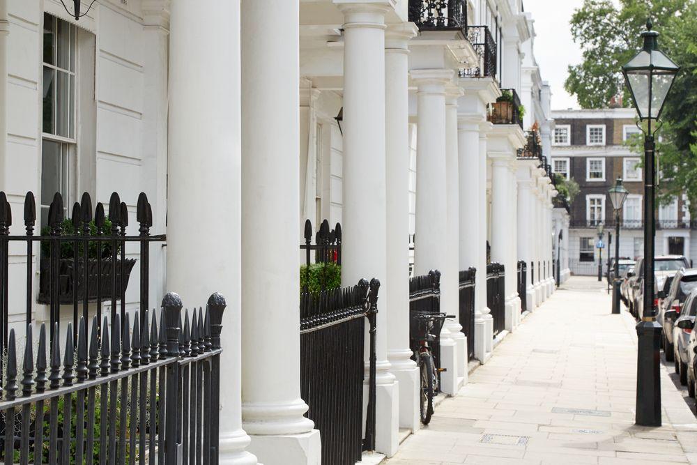 Row Beautiful White Edwardian Houses Kensington
