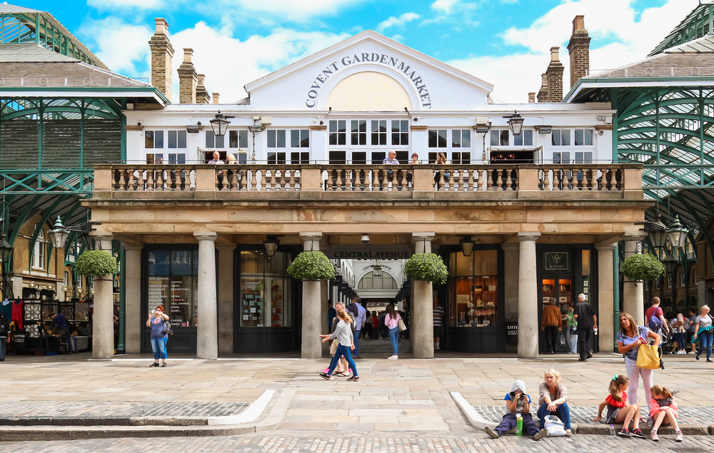 The shops and stores of Covent Garden