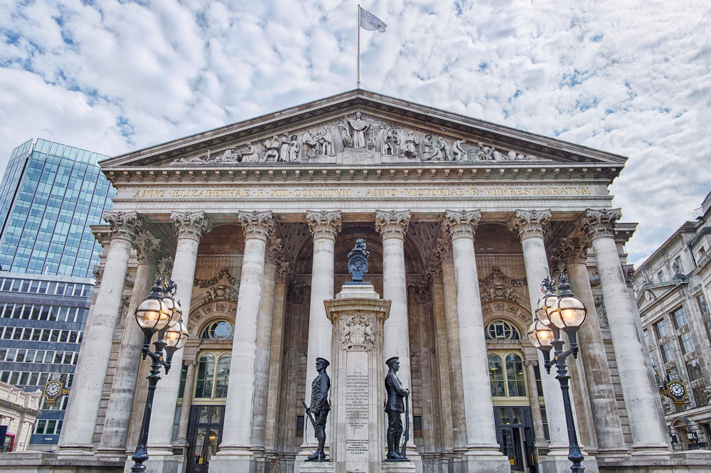 The Royal Exchange in the City of London