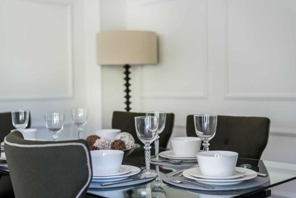 Charming interior decor at Hyde Park Gate Apartments in London