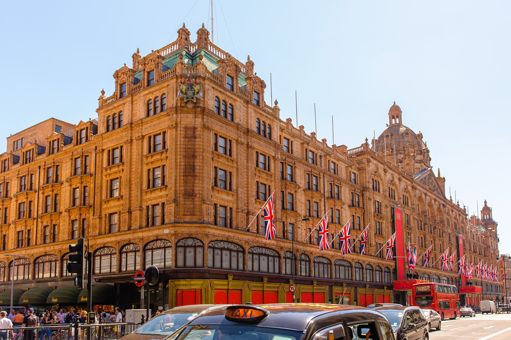 Harrods in Knightsbridge, London.
