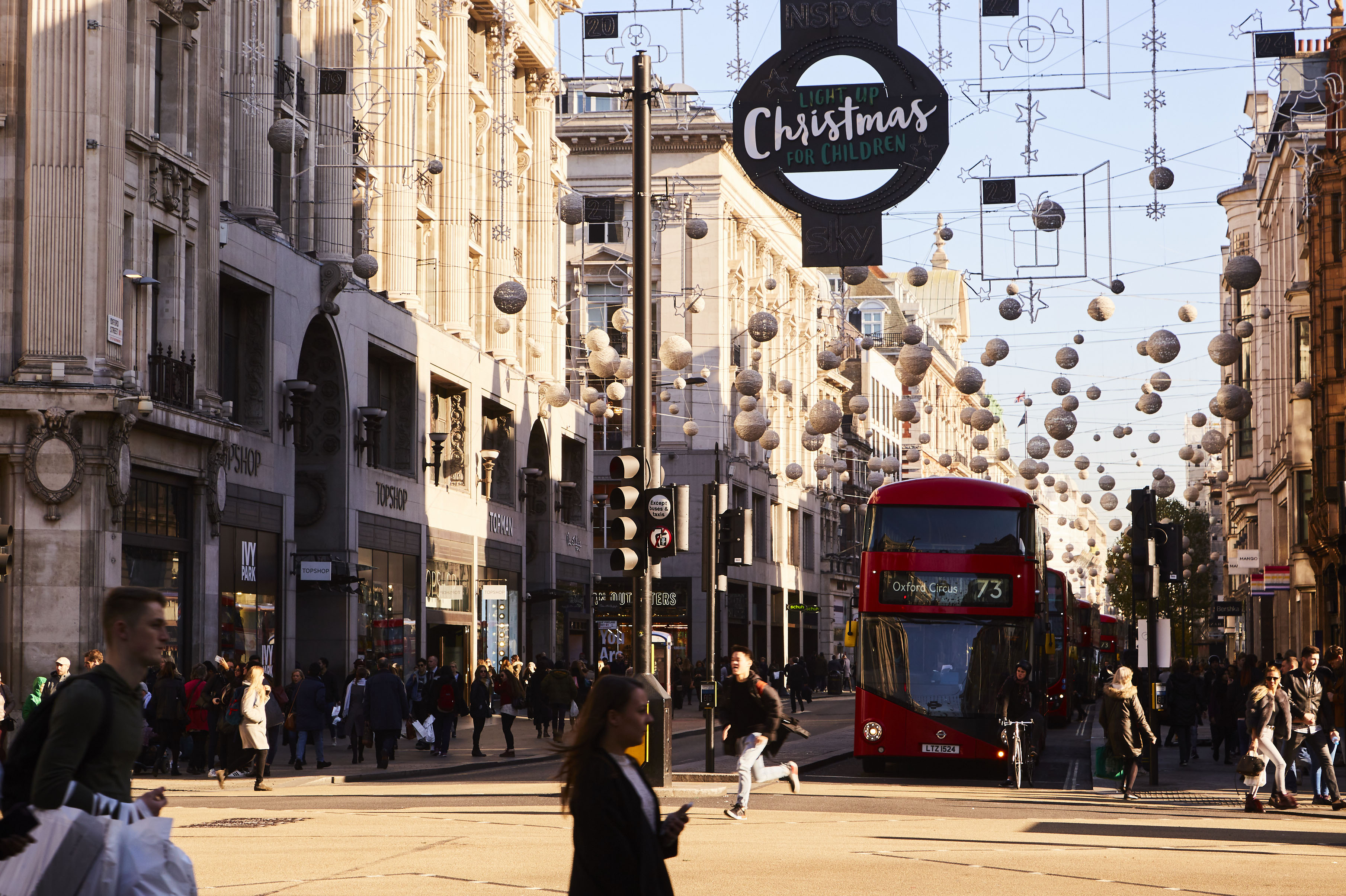 Luxury shopping at Oxford Street