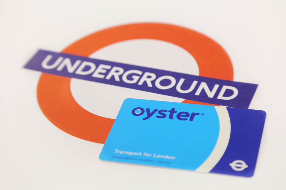 Oyster Card being used on London Public Transport