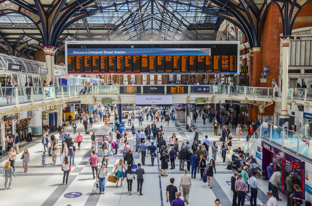 Liverpool Street train station in London