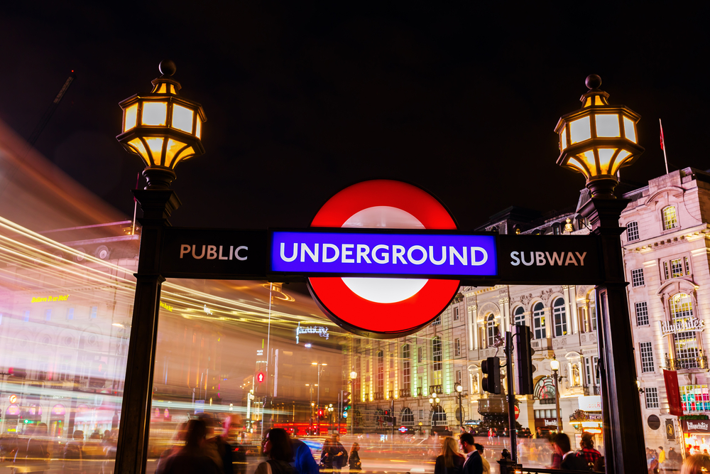 The Night Tube at Piccadilly Circus on the London Underground