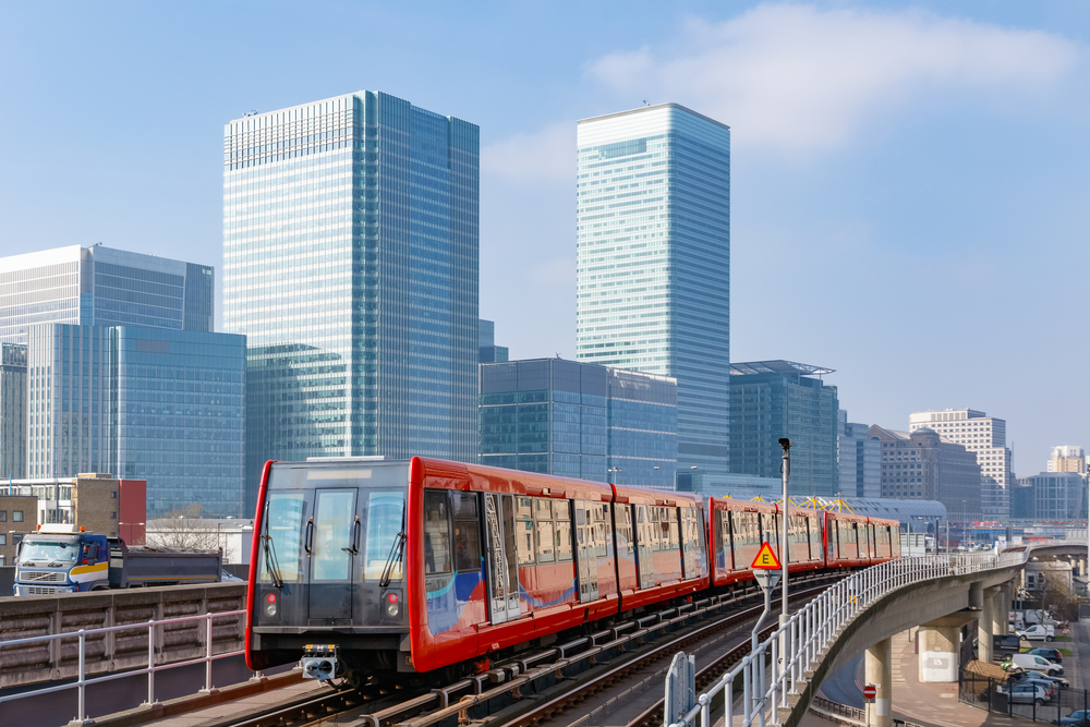 The Docklands Light Railway on the London Underground