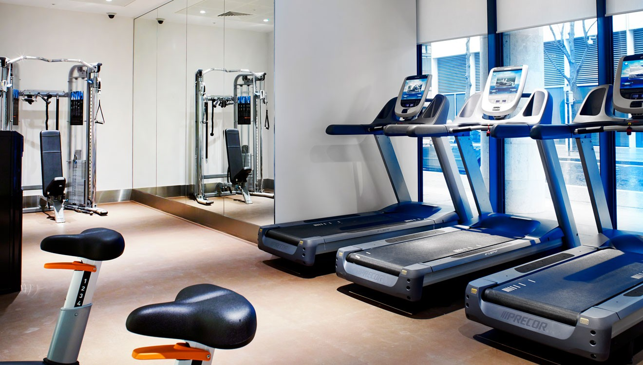 On-site gym facilities at Cheval Three Quays