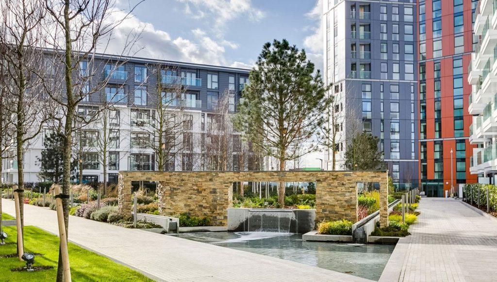 Nine Elms apartments Vauxhall London gardens