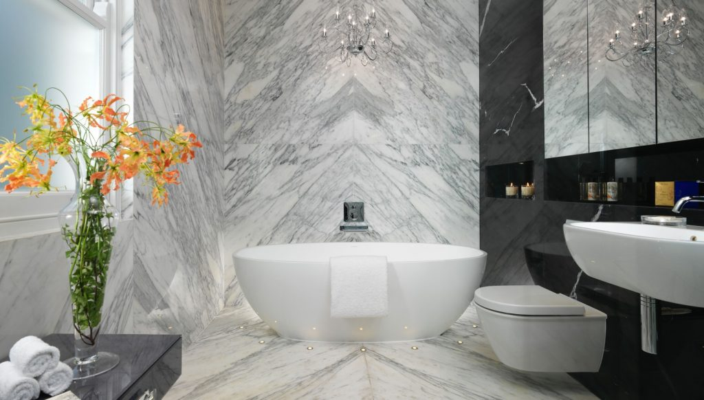 Luxurious central London bathroom