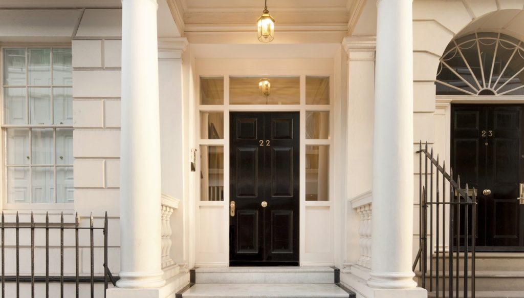 Exclusive London front door porch