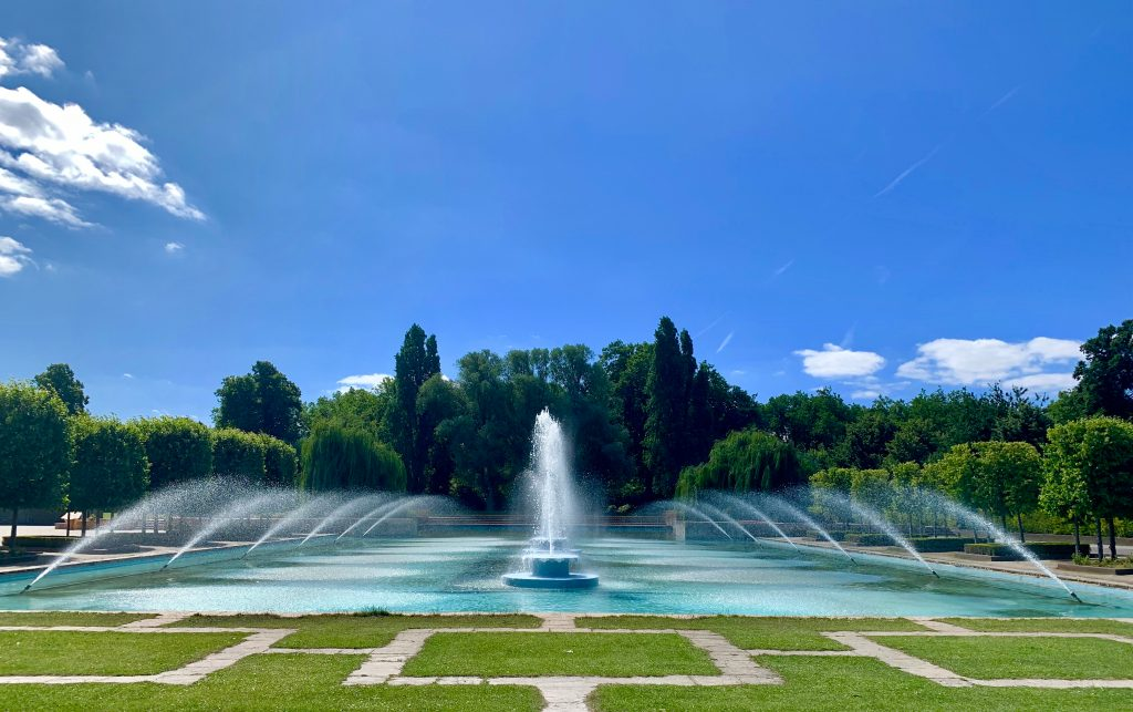 The fountains in Battersea Park in London