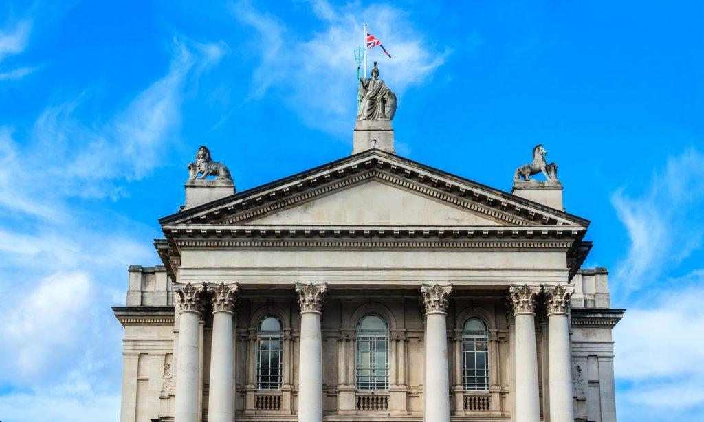 Tate Britain London against a blue sky