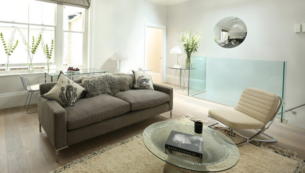 Living area at 56 Welbeck Street Apartments.