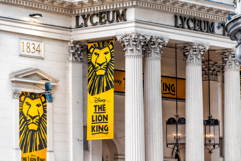 The lion King musical at Lyceum Theatre
