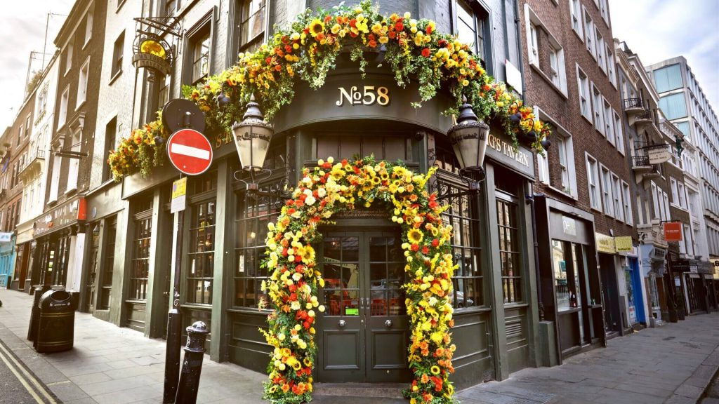 Mr Fogg's gin tavern entrance, Covent Garden