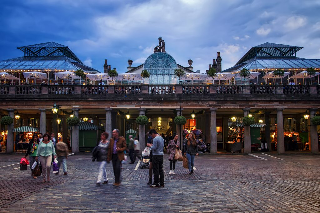 Sunset in Covent Garden