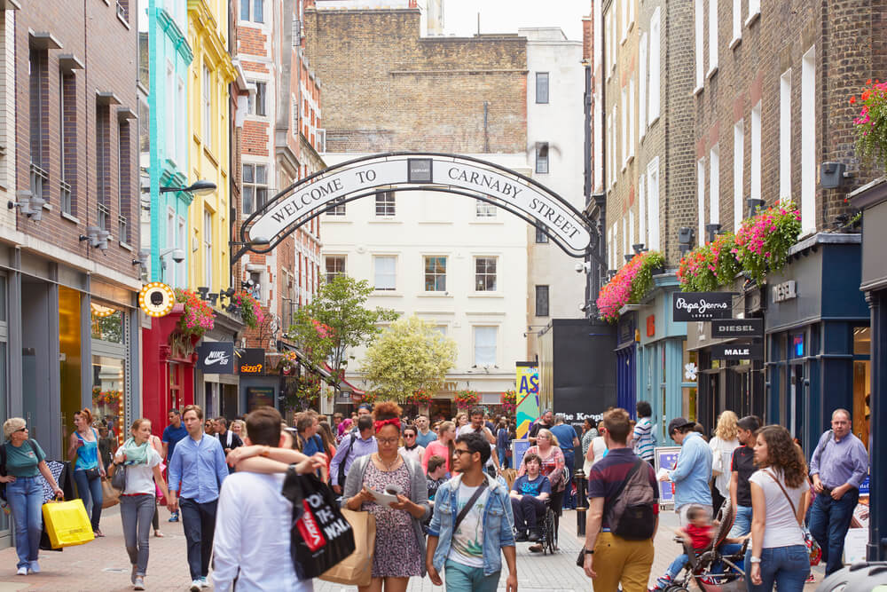 Carnaby Street in the summer
