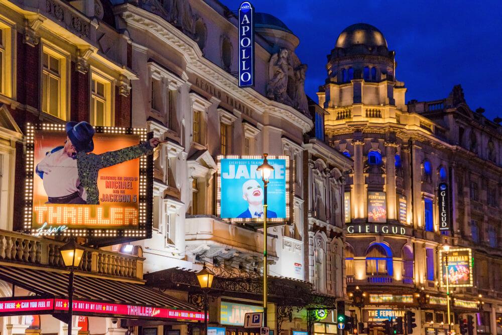 Shaftsbury Avenue luminous theatre signs