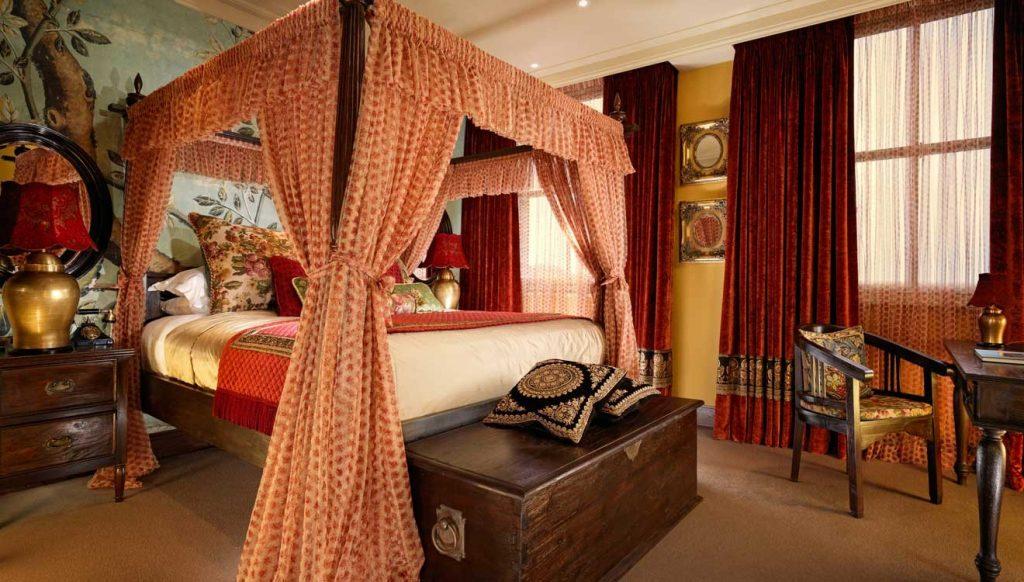 Four-post bed at Taj 51 Buckingham Gate