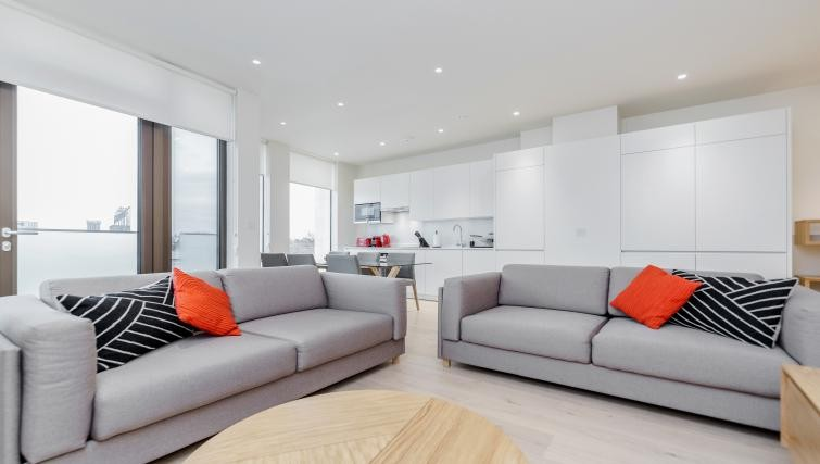Sleek and spacious interior at Pear Place Apartments