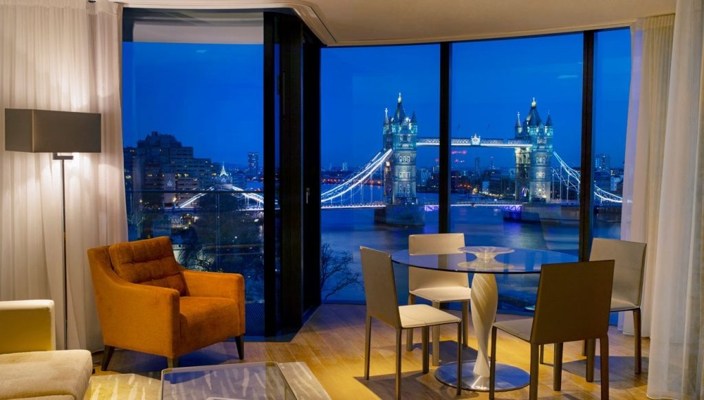 Amazing view of Tower Bridge at Cheval Three Quays