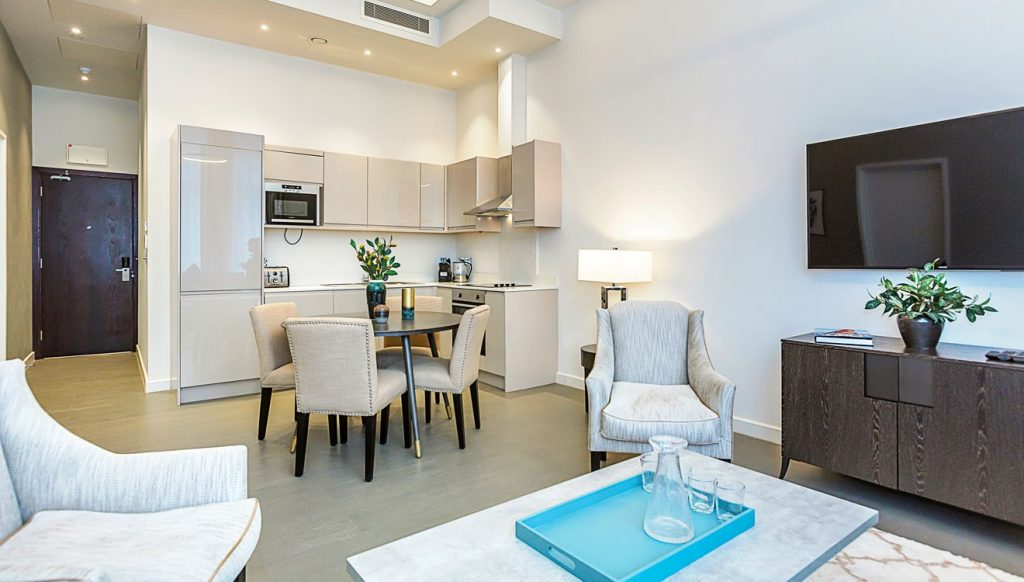 Luxury interior at B Shan Apartments