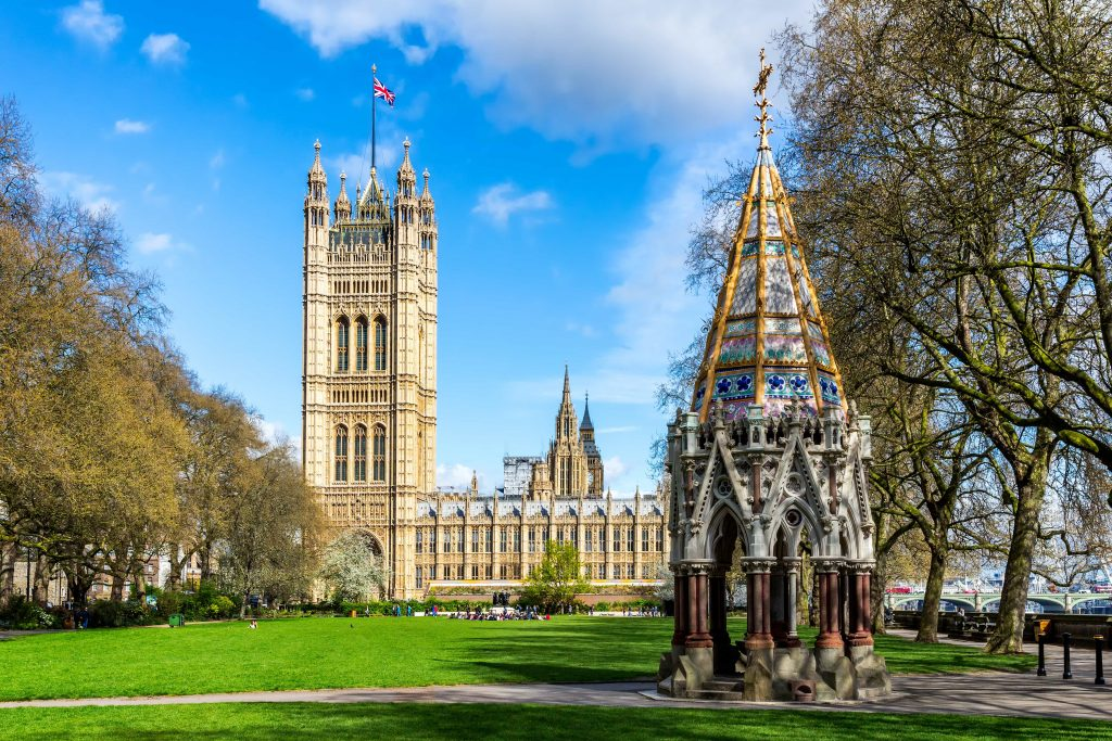 Victoria Tower Gardens are situated in a wonderful setting