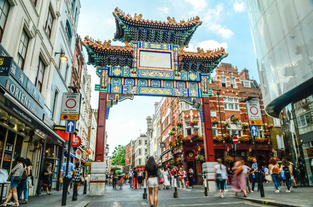 The Chinatown Gate in Soho, London