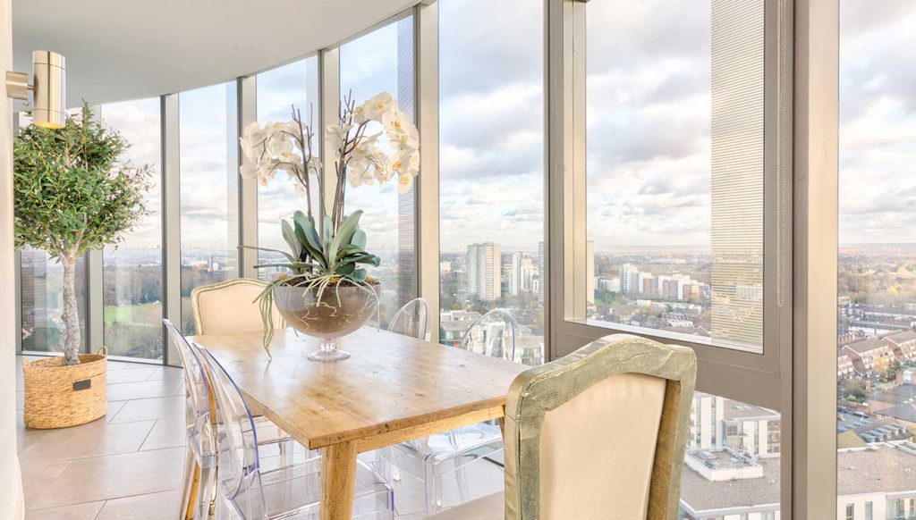 The stunning view from this luxury London penthouse