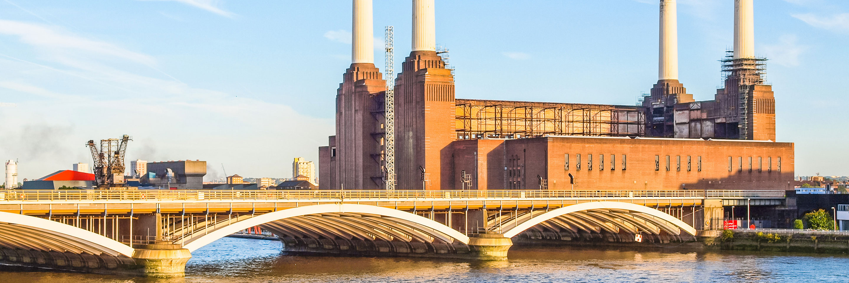 Battersea Power Plant and Battersea Bridge