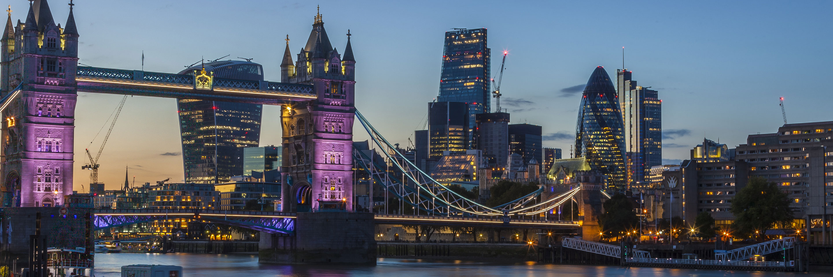 Tower Bridge, The Gherkin and the City of London